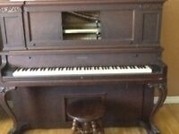 Piano with stool--try an offer