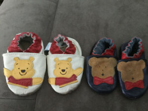 2 pairs infant robeez both  size 0-6 months