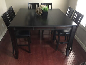 """54"""" Square Counter Height Espresso/Ebony Dining Table"""