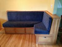 Craftsman Built Birch Bench with Cushions