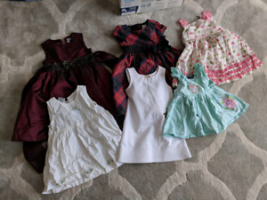 Lot of girls dresses, sweaters and a winter jacket 2-4yo $20 OBO