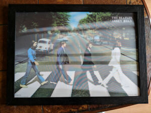Beatles Abby Road 3D Lenticular Framed Holographic Picture