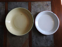 Patina metal pans - $10 ea or BOTH only $15