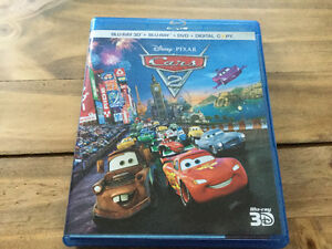 Disney Pixar Cars 2 3D Bluray Combo Set