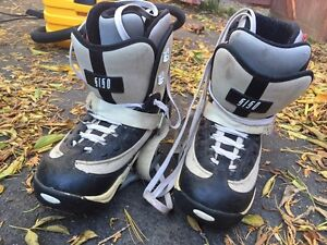 Snowboarding step in boots and bindings