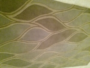 Two tone Green Wool Blend Area Rug