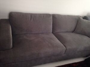 Costco brand new grey couch with ottoman