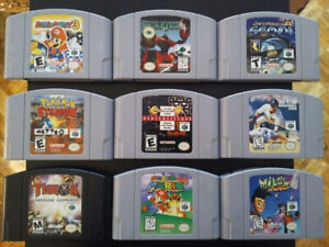 Nintendo 64 games N64. Also Gamecube PS1 NES (Updated May 24/19)