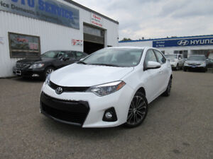 2014 Toyota Corolla S-ONE OWNER!SUN ROOF!REAR CAM!LEATHER!$14650