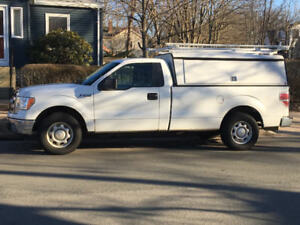 2013 Ford F-150 Pickup Truck & Cap & Ladder Rack