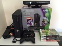 Xbox 360 250 GB + Kinect + 2 controllers + 4 games + mint condition