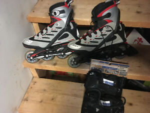 Rollerblades men's size 10, used only once few yrs ago.