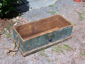 Antique Pine Box 32 by 14 and 12 inch deep