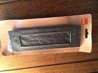 Antique effect black letterbox plate