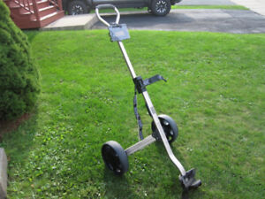 Two Wheeled Push/Pull Golf Cart Fold-able (Cadie TC400)