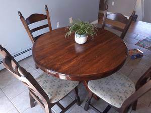 Solid wood table + chairs