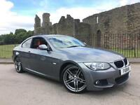 2011 BMW 320D COUPE (184bhp) Auto M Sport GREY RED HEATED LEATHER