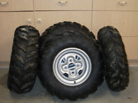 4 atv Tires and rims (from a 2014 grizzly)