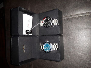 2 Men's stainless watches both new