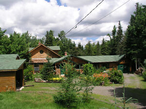 LOG HOME for sale on 1.4 acre near Bouctouche / Kent county