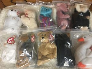 28 TY Beanie Baby toys + 5 other bears