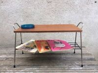 Mid Century Stunning Teak And Metal Atomic Inspired Coffee / Side Table