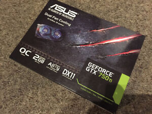 Selling: GTX 750ti 2GB, original box never overclocked.