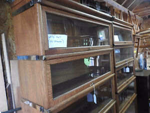 antique barrister bookcase 5glass levels professionally restored