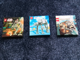Lego Star Wars canvas over wood pictures x3