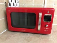 FULL KITCHEN SET - microwave, kettle toaster clock blind - red