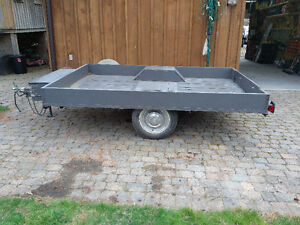 Utility trailer - wood box with metal frame