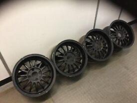 """MIM 15"""" 7J 4x108 Deep dish, original alloy wheels, Classic wheels, not borbet, azev ats tm"""