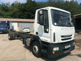 2013 IVECO EUROCARGO 140E18 14 tin 28 ft CHASSIS CAB