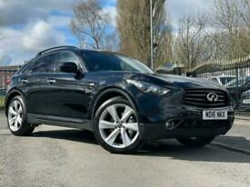 image for 2016 16 INFINITI QX70 3.0 S DESIGN D 5D 235 BHP BLACK+ FSH+PRIVACY GLASS+MEDIA++