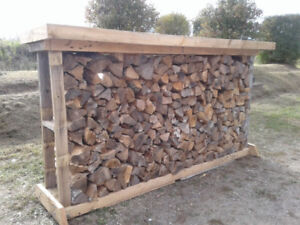 hardwood-firewood with sturdy rack--, exactly one face cord