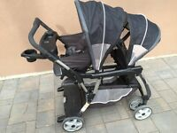 Sit and stand Graco double stroller
