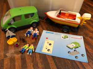 Playmobil Family Van with Boat and Trailer