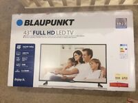 """Blaupunkt. Full 43"""" HD LED TV with Freeview HD"""