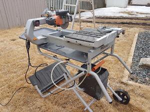 "Ridgid 7"" Job-Site Wet Tile Saw with Laser R4007"