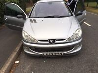 Peugeot 206 quicksilver with c2 vts conversion spares or repairs