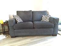Alstons 2 x sofa beds, 1 x armchair, 1 x storage foot rest