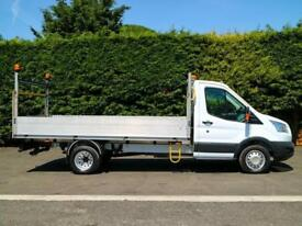 "2015 (65) FORD TRANSIT 350 D.R.W 13'7"" L4 EXTRA LWB DROPSIDE PICK UP"
