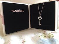 Brand-new genuine Pandora chain and pendant with box