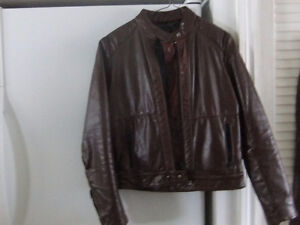 Womens Leather Coat and Pants   NEW PRICE