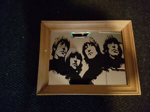 "Beatles Mirrored Sign 14"" x 11"""