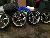 Work VS-KF rims 19inch with tires
