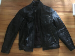 Men's Leather Jacket - Size M