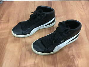 Puma High Tops, Black, Worn, Good Condition (US 9)
