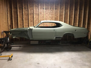 1973 plymouth Duster with rotissery