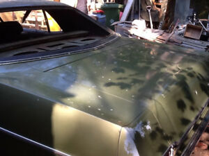 1970 Ford Galaxy.  Two-door hardtop. Green.  All original